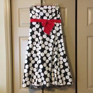 Trixxi Polka Dot Strapless Juniors Size 13 ( W 10)